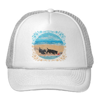 Two Scotties at the Beach Trucker Hat