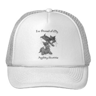 Two Scottish Terriers Agility Trucker Hat