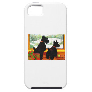 Two Scotty Dogs at Christmas iPhone 5 Covers