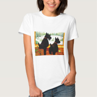 Two Scotty Dogs at Christmas T Shirt