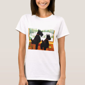 Two Scotty Dogs at Christmas T-Shirt