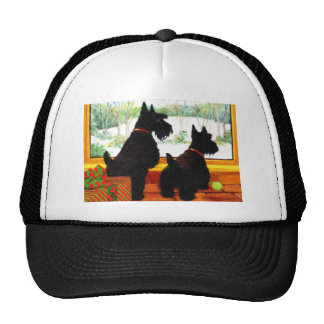 Two Scotty Dogs at Christmas Trucker Hat