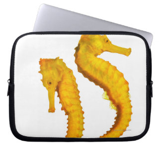 Two Sea Horses shoot on a white background in a Computer Sleeve