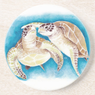 Two Sea Turtles Coaster