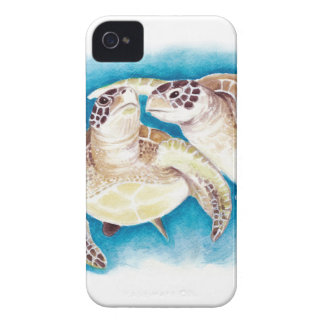 Two Sea Turtles iPhone 4 Case