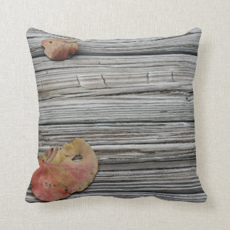 two seagrape leaves wooden dock throw pillows
