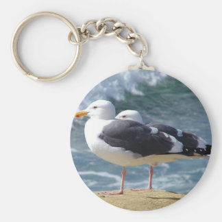 Two Seagulls Keychain