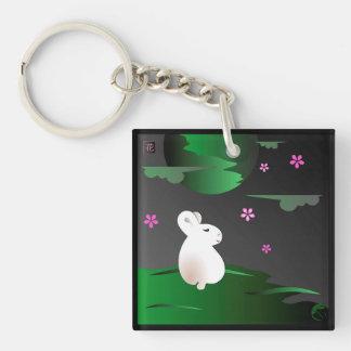 """Two Seasons"" Moon Bunny Keychain"