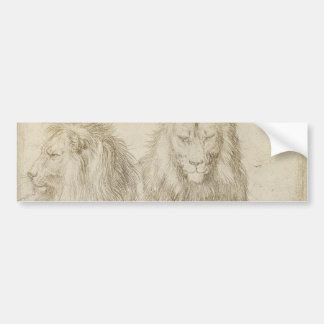 Two Seated Lions by Albrecht Durer Bumper Sticker