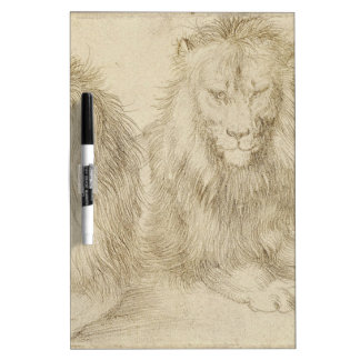Two seated lions by Albrecht Durer Dry-Erase Board
