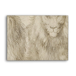 Two Seated Lions by Albrecht Durer Envelopes