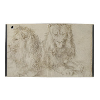 Two Seated Lions by Albrecht Durer iPad Folio Case