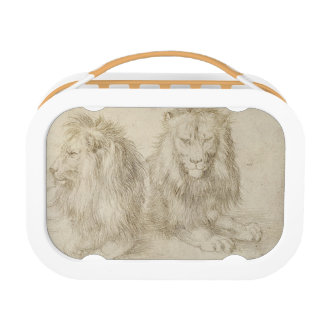 Two Seated Lions by Albrecht Durer Lunch Boxes