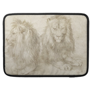 Two Seated Lions by Albrecht Durer Sleeves For MacBook Pro