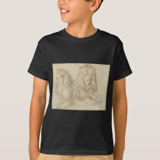 Two seated lions by Albrecht Durer T-Shirt