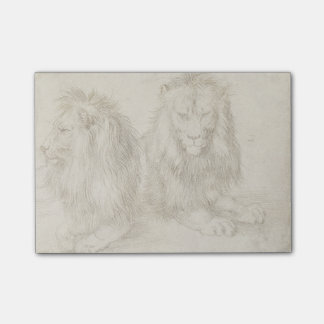Two Seated Lions by Albrecht Durer Post-it® Notes