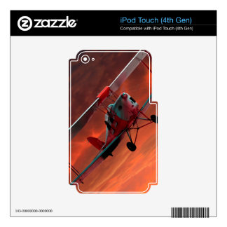 Two seater Tigermoth iPod Touch 4G Skins