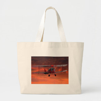Two seater Tigermoth Large Tote Bag