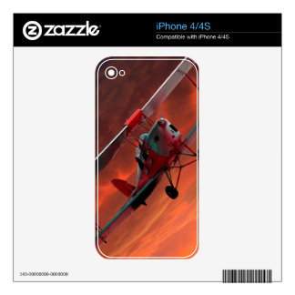 Two seater Tigermoth Skin For The iPhone 4