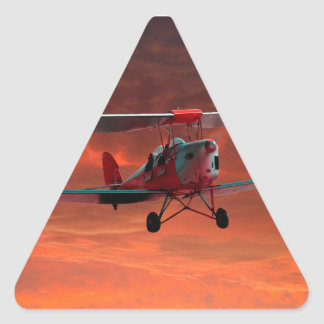 Two seater Tigermoth Triangle Sticker