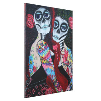 Two Senoritas Stretched Canvas Print