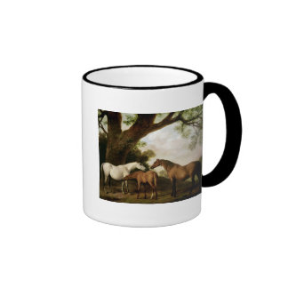 Two Shafto Mares and a Foal, 1774 Ringer Mug