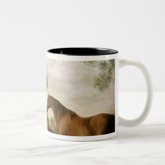 Two Shafto Mares and a Foal, 1774 Two-Tone Coffee Mug