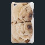 "Two Shar Pei puppies sleeping Barely There iPod Case<br><div class=""desc"">Two Shar Pei puppies sleeping,  white background,  studio shot 