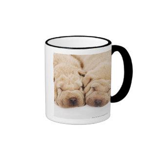 Two Shar Pei puppies sleeping Coffee Mug