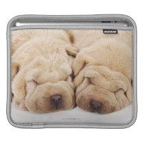 Two Shar Pei puppies sleeping Sleeve For iPads