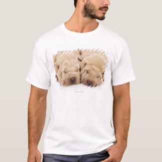 Two Shar Pei puppies sleeping T-Shirt