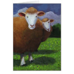 Two Sheep: Acrylic Painting: Anniversary Greeting Cards