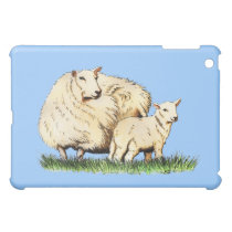 two sheep animal drawing iPad mini covers