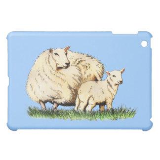 two sheep animal drawing iPad mini covers