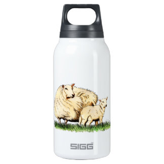 two sheep animal 10 oz insulated SIGG thermos water bottle