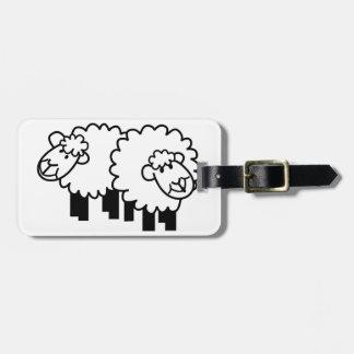 Two Sheep Bag Tag