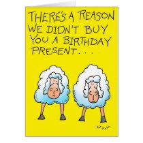 Two Sheep Card