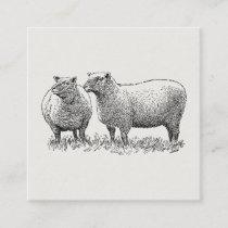Two Sheep Illustrated Art Enclosure Card