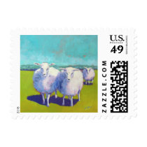 Two Sheep In Field Postage