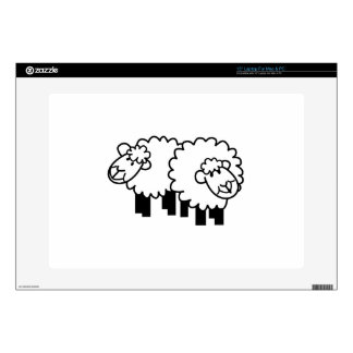 Two Sheep Laptop Decals