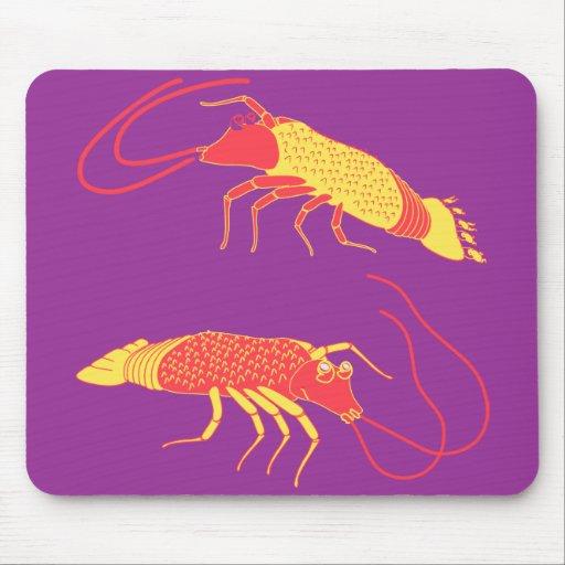 Two shrimp 1 mouse pad