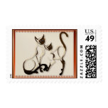 Two Siamese Cats Postage