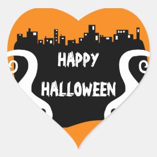 Two side ghosts Halloween sticker