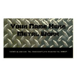 Two Sided Aluminum Metal for Mechanic or ? Double-Sided Standard Business Cards (Pack Of 100)