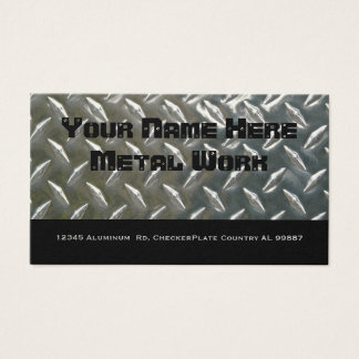 Two Sided Aluminum Metal for Mechanic or ? Business Card