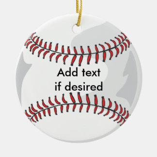 Two Sided Baseball Ornament