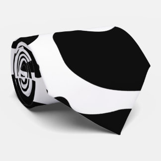 Two Sided Black and White Holstein Cow Pattern Tie