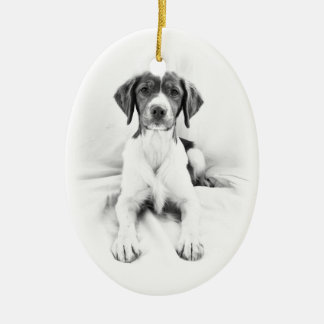 Two-sided Brittany Ornament