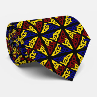 Two Sided Celtic Knot Square Tri-Color Tie