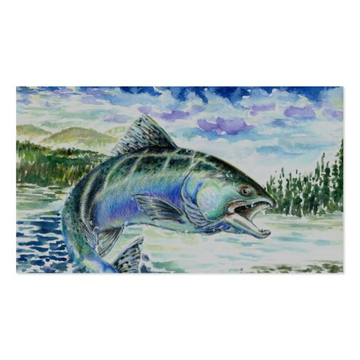 Two-Sided Chinook Salmon Business Card